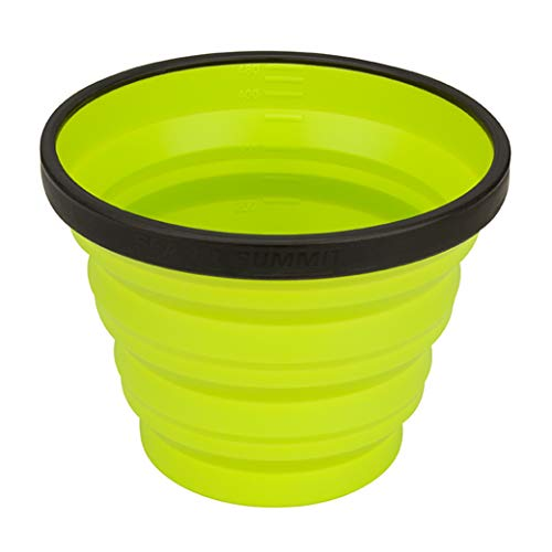 Sea to Summit X-Series Collapsible Silicone Camping Drinkware, Mug (16.2 fl oz), Lime Green