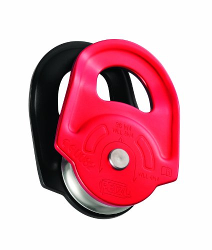 PETZL - Rescue, High-Strength Pulley with Swinging Side Plates, Red
