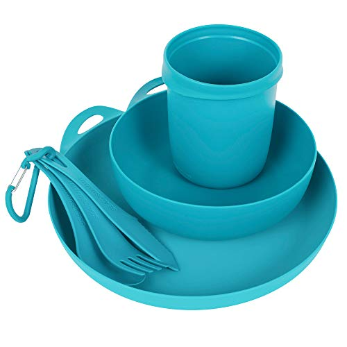 Sea to Summit Delta Camp 6-Piece Dinnerware Mess Kit, Pacific Blue