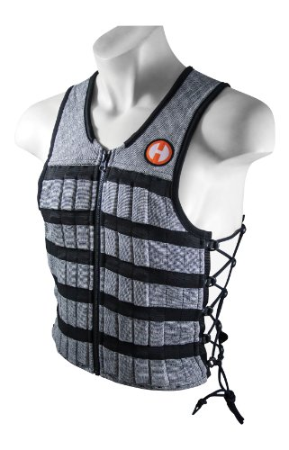 Hyperwear Hyper Vest PRO Unisex 10-Pound Adjustable Weighted Vest for Fitness Workouts, X-Large, Grey