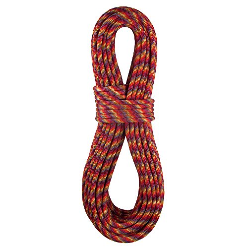 BlueWater Ropes 9.1mm Icon Standard Dynamic Single Rope (Rainbow, 60M)