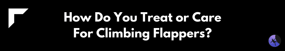 How Do You Treat or Care For Climbing Flappers?