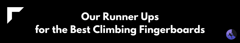Our Runner Ups for the Best Climbing Fingerboards