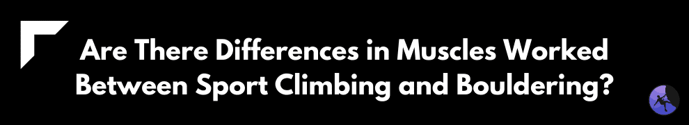 Are There Differences in Muscles Worked Between Sport Climbing and Bouldering?